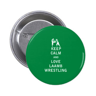 Keep Calm and Love Laamb Wrestling Pin
