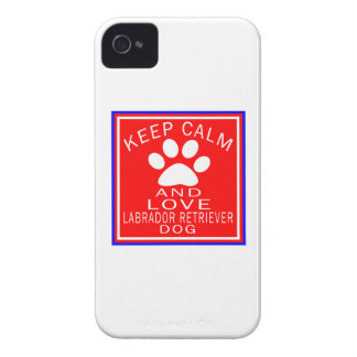 Keep Calm And Love Labrador Retriever iPhone 4 Covers