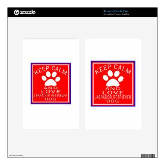 Keep Calm And Love Labrador Retriever Skins For Kindle Fire