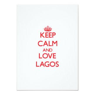 "Keep Calm and Love Lagos 5"" X 7"" Invitation Card"