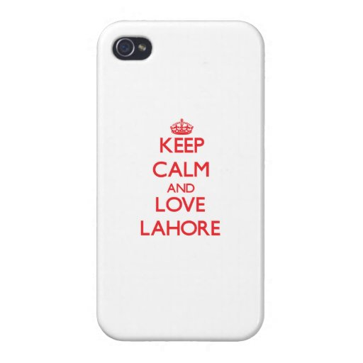 Keep Calm and Love Lahore iPhone 4/4S Cases