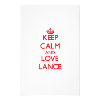 Keep Calm and Love Lance Stationery Paper