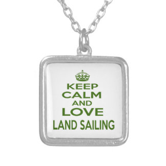 Keep Calm And Love Land Sailing Pendants