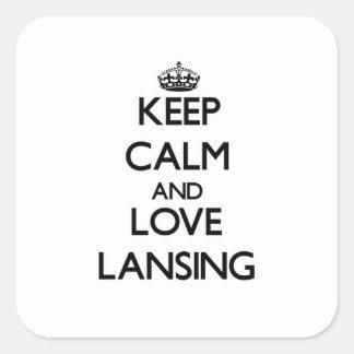 Keep Calm and love Lansing Sticker