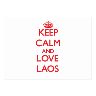 Keep Calm and Love Laos Business Card Template