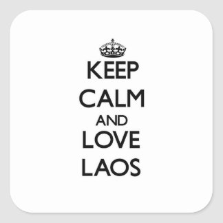 Keep Calm and Love Laos Stickers