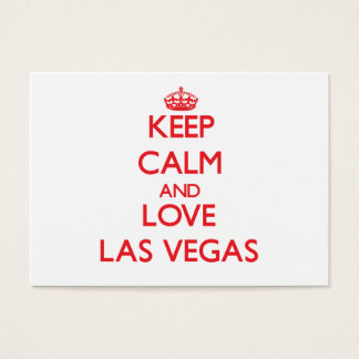 Keep Calm and Love Las Vegas Business Card