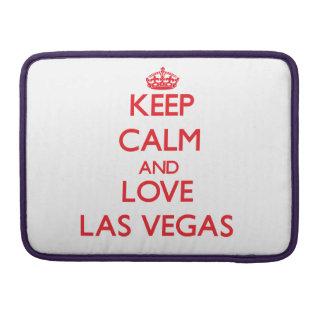 Keep Calm and Love Las Vegas MacBook Pro Sleeves