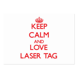 Keep calm and love Laser Tag Business Card Templates