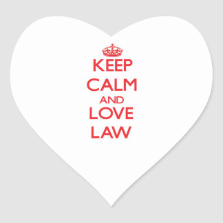 Keep calm and love Law Heart Sticker