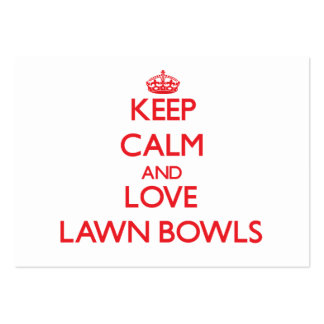 Keep calm and love Lawn Bowls Business Cards