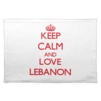 Keep Calm and Love Lebanon Place Mats