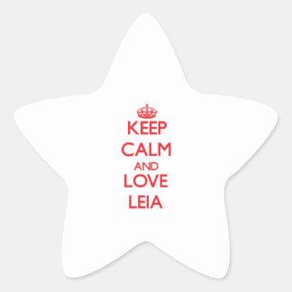 Keep Calm and Love Leia Star Sticker
