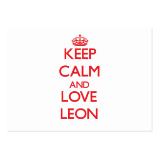 Keep calm and love Leon Business Card Template