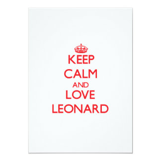 Keep calm and love Leonard 5x7 Paper Invitation Card