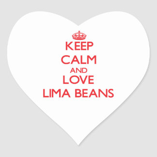 Keep calm and love Lima Beans Stickers