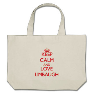 Keep calm and love Limbaugh Tote Bags