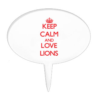 Keep calm and love Lions Cake Toppers