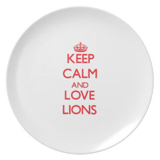 Keep calm and love Lions Party Plate