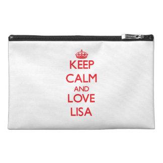 Keep Calm and Love Lisa Travel Accessories Bag