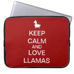 Keep Calm and Love Llamas Computer Sleeve