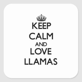 Keep calm and Love Llamas Stickers