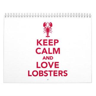 Keep calm and love Lobsters Calendar