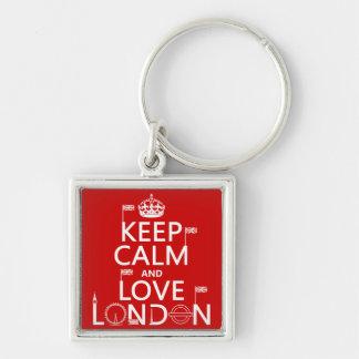 Keep Calm and Love London Keychain