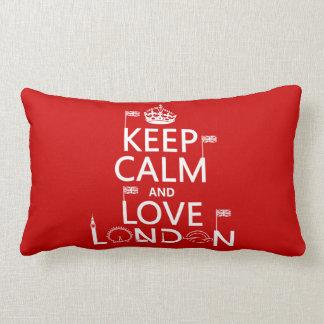 Keep Calm and Love London Lumbar Pillow
