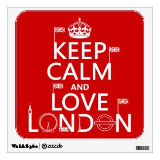 Keep Calm and Love London Wall Decal