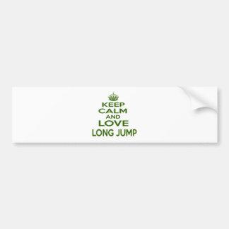 Keep Calm And Love Long Jump Car Bumper Sticker