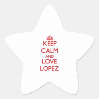 Keep calm and love Lopez Star Sticker