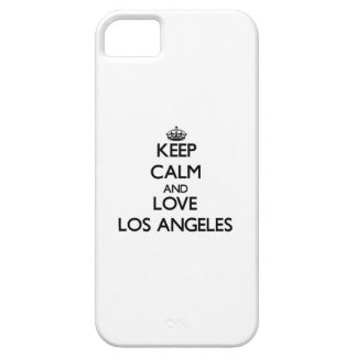 Keep Calm and love Los Angeles iPhone 5 Cases