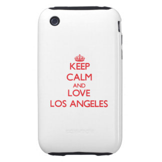 Keep Calm and Love Los Angeles iPhone 3 Tough Case