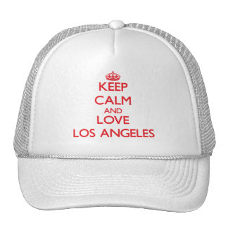 Keep Calm and Love Los Angeles Hat