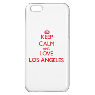 Keep Calm and Love Los Angeles iPhone 5C Cases