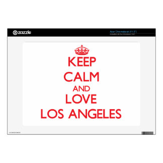 Keep Calm and Love Los Angeles Acer Chromebook Skin