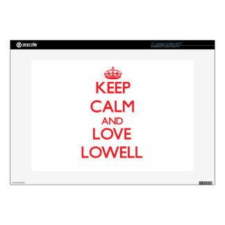 """Keep Calm and Love Lowell Skins For 15"""" Laptops"""