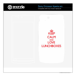 Keep calm and love Lunchboxes Xperia Arc Skin