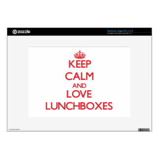 Keep calm and love Lunchboxes Decals For Netbooks