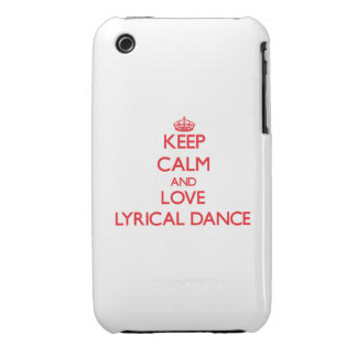 Keep calm and love Lyrical Dance iPhone 3 Case