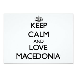 Keep Calm and Love Macedonia 5x7 Paper Invitation Card