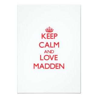 "Keep calm and love Madden 5"" X 7"" Invitation Card"