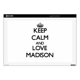 Keep Calm and love Madison Decals For Laptops