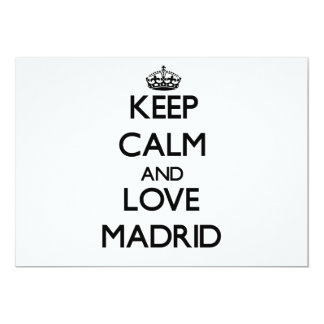 Keep Calm and love Madrid Personalized Invitation