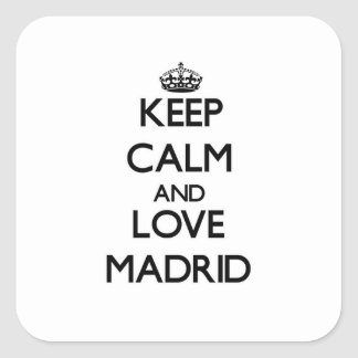 Keep Calm and love Madrid Stickers