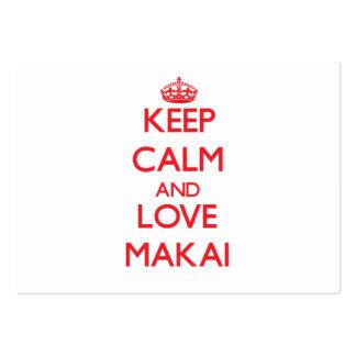 Keep Calm and Love Makai Business Card Template