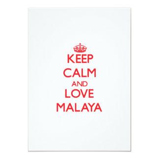 Keep Calm and Love Malaya 5x7 Paper Invitation Card