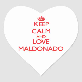 Keep calm and love Maldonado Heart Sticker
