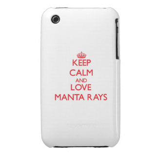 Keep calm and love Manta Rays Case-Mate iPhone 3 Case
